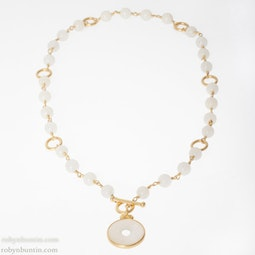 White Jadeite Necklace by Tomi