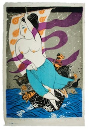 Treasure Ship, Goddess of all Animals (8/50) by Mayumi Oda
