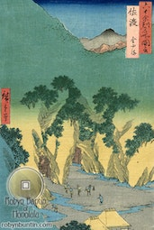 Sado Province, The Goldmines by Hiroshige