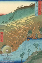 Buzen Province, The Passage Under the Rakan Monastery by Hiroshige