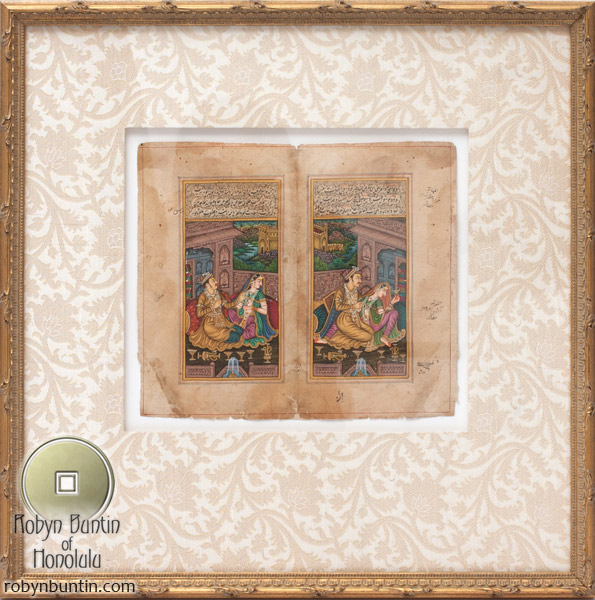 Indian Diptych(Indian Painting/Drawing)