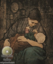 Motherhood, Holland 1912 by Charles W. Bartlett