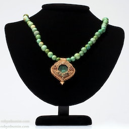 Turquoise Necklace with Buddha Locket