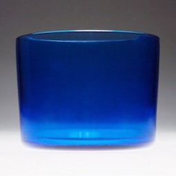 Blue Columnar Peking Glass Bowl