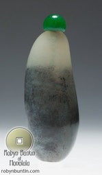Black & White Jade Snuff Bottle