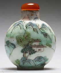 Painted Porcelain Snuff Bottle