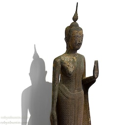 Standing Thai Buddha with stand