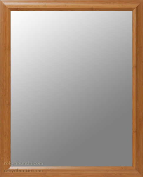Beveled Mirror in Bamboo Frame(American Furniture)
