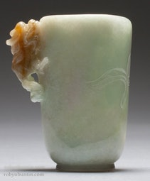 Jadeite Wine Cup with Dragon