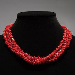 3-Strand Coral Necklace by Tomi
