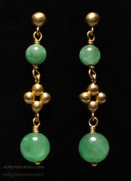 Jadeite Earrings by Tomi