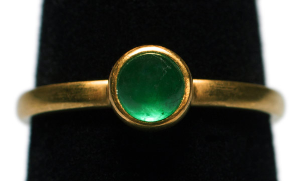 Emerald Stacking Ring by Tomi(Hawaiian Jewelry)