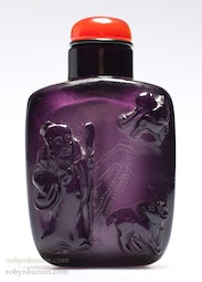 Purple Glass Snuff Bottle