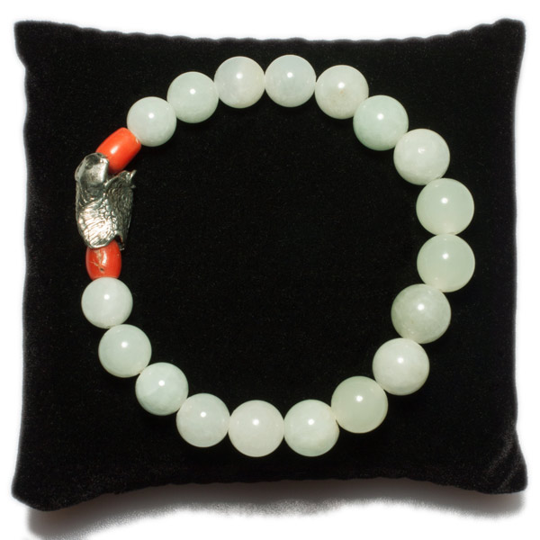 Jade & Coral Bracelet(Chinese Jewelry)