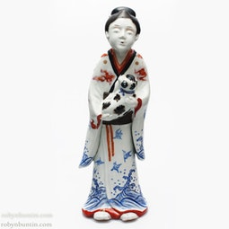 Ko-Imari Beauty with Dog