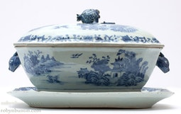Large Blue & White Tureen