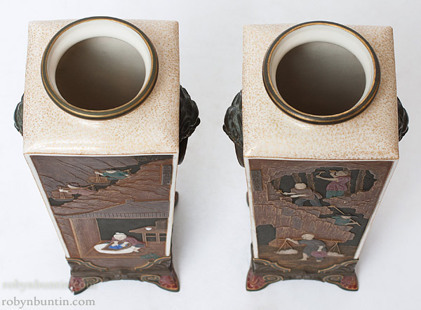 Pair of Royal Worcester Chinoiserie Vases(European Functional Object)