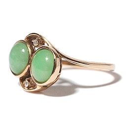 Double Circle Jadeite Ring
