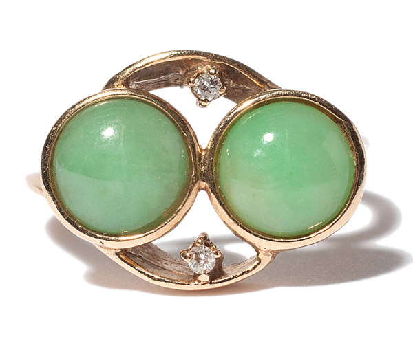 Double Circle Jadeite Ring(Chinese Jewelry)