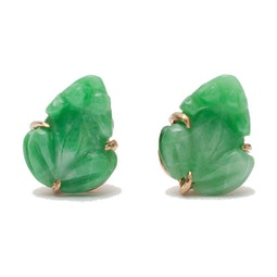 Jadeite Frog Earrings