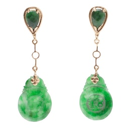 Spinach Jade Earrings