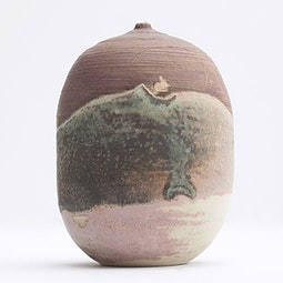 Small Closed Form Vase by Toshiko Takaezu