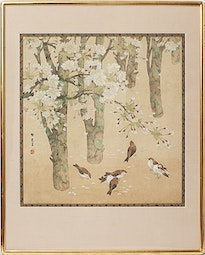 Bird & Cherry Blossoms