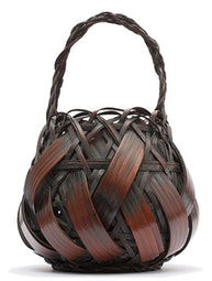 Smoked Bamboo Japanese Basket