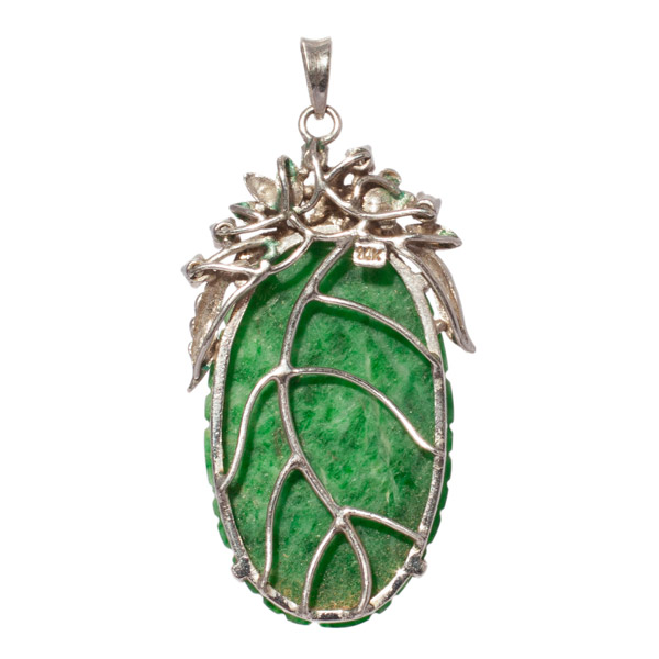 Jadeite & Diamond Pendant(Chinese Jewelry)