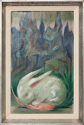 Bunny with Mountain Background by Jean Charlot