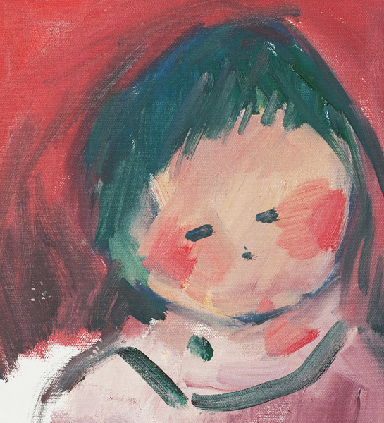 Child with Red Background by John Young(Hawaiian Painting/Drawing)