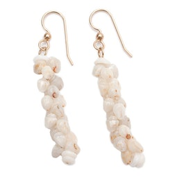 Gold Hook Ni'ihau Pikake Earrings