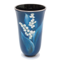 Cloisonne Lily of the Valley Vase (with box) by Ando Jubei Company