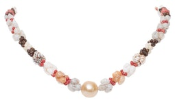 Ni'ihau Shell & South Sea Pearl Lei by Janelle Kienow
