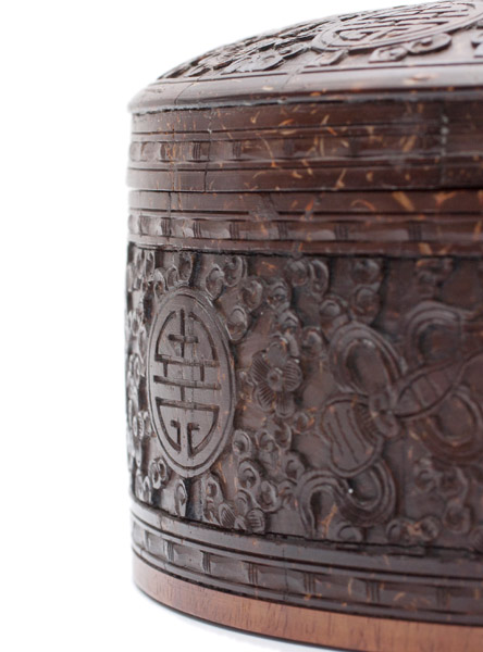Carved Round Scholar's Box(Chinese Scholar's Table)