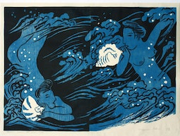 Mother Sea, Blue Diptych (9/50) by Mayumi Oda