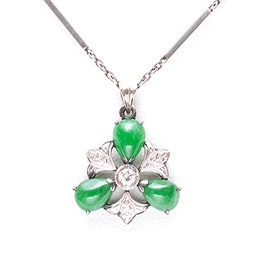 Jadeite & Diamond Necklace