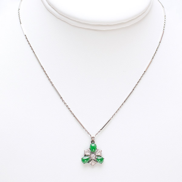Jadeite & Diamond Necklace(Chinese Jewelry)