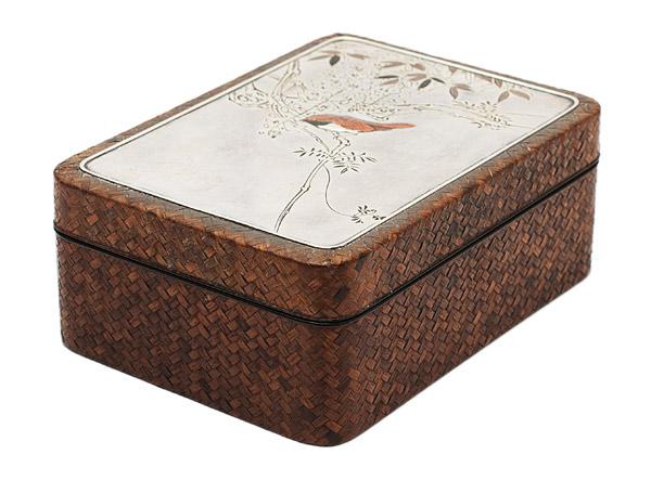 Silver & Woven Box(Japanese Functional Object)