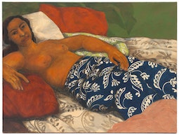 Reclining Woman in Blue Pareo by Yvonne Cheng
