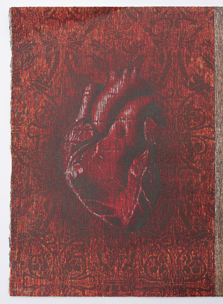 Heart & Leaf Diptych (46/75) by Charles Cohan(Hawaiian Print)