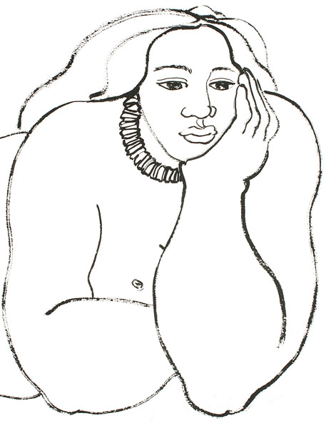 Reclining Woman by Yvonne Cheng(Hawaiian Painting/Drawing)