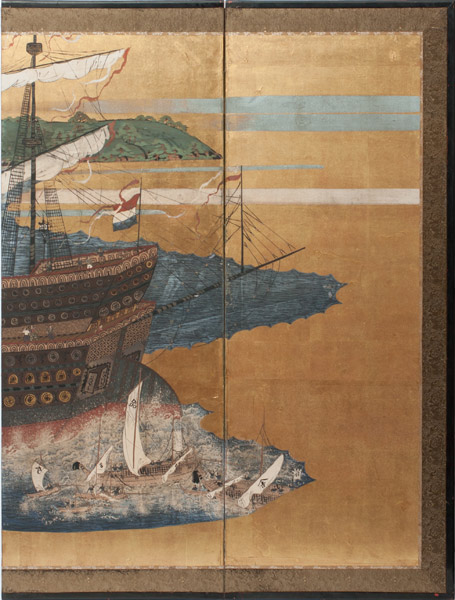 French Ship(Japanese Screen)