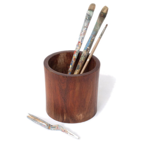 John Young's Brush Pot & Brushes(Chinese Functional Object)