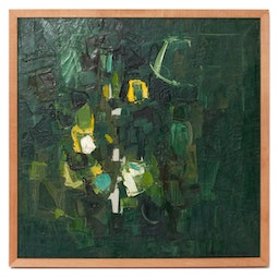 Abstract in Green & Yellow by John Young