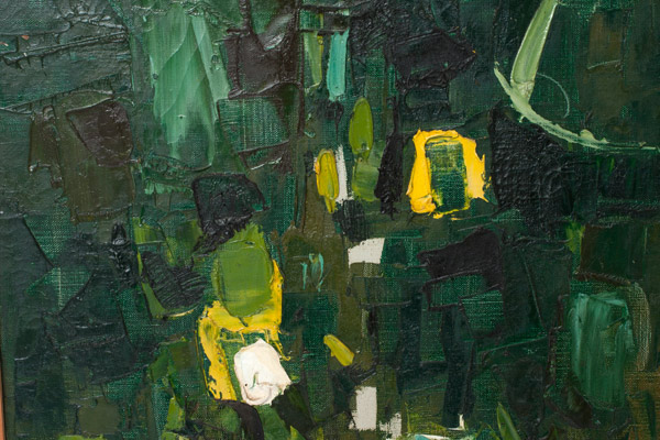 Abstract in Green & Yellow by John Young(Hawaiian Painting/Drawing)