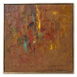 Abstract in Brown & Yellow Brocade by John Young
