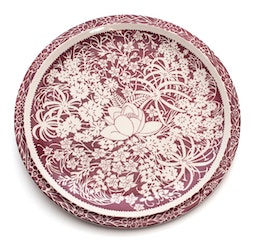 Hawaiian Flowers 14 Inch Charger by Don Blanding