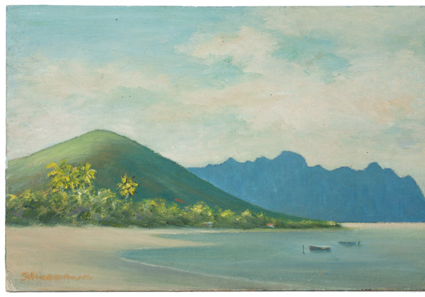 Chinaman's Hat(Hawaiian Painting/Drawing)