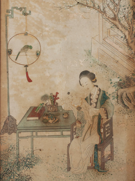 Set of 4 Court Paintings(Chinese Painting/Drawing)